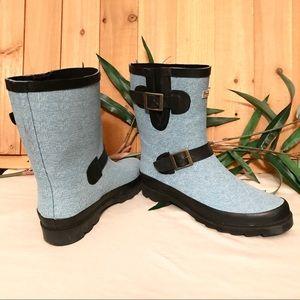 Bearpaw Blue Heritage Rain Boots